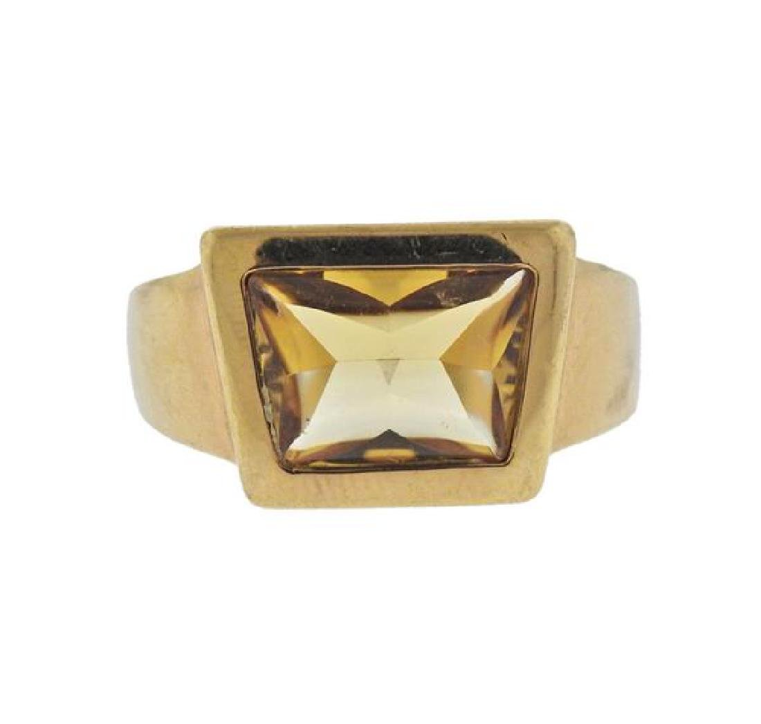 Vacheron Constantin 18k Gold Yellow Gemstone Ring