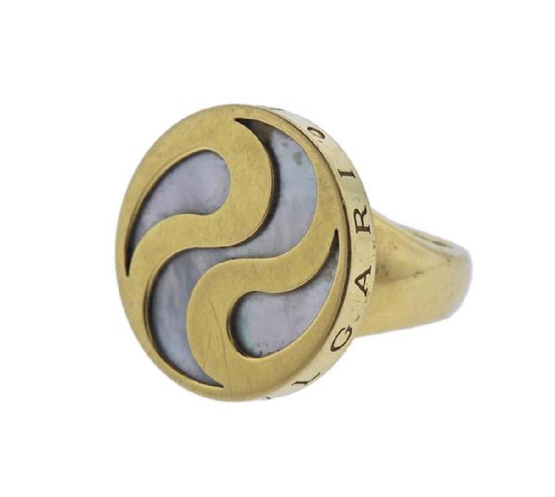 Bvlgari Bulgari Optical Illusion 18K Gold MOP Ring