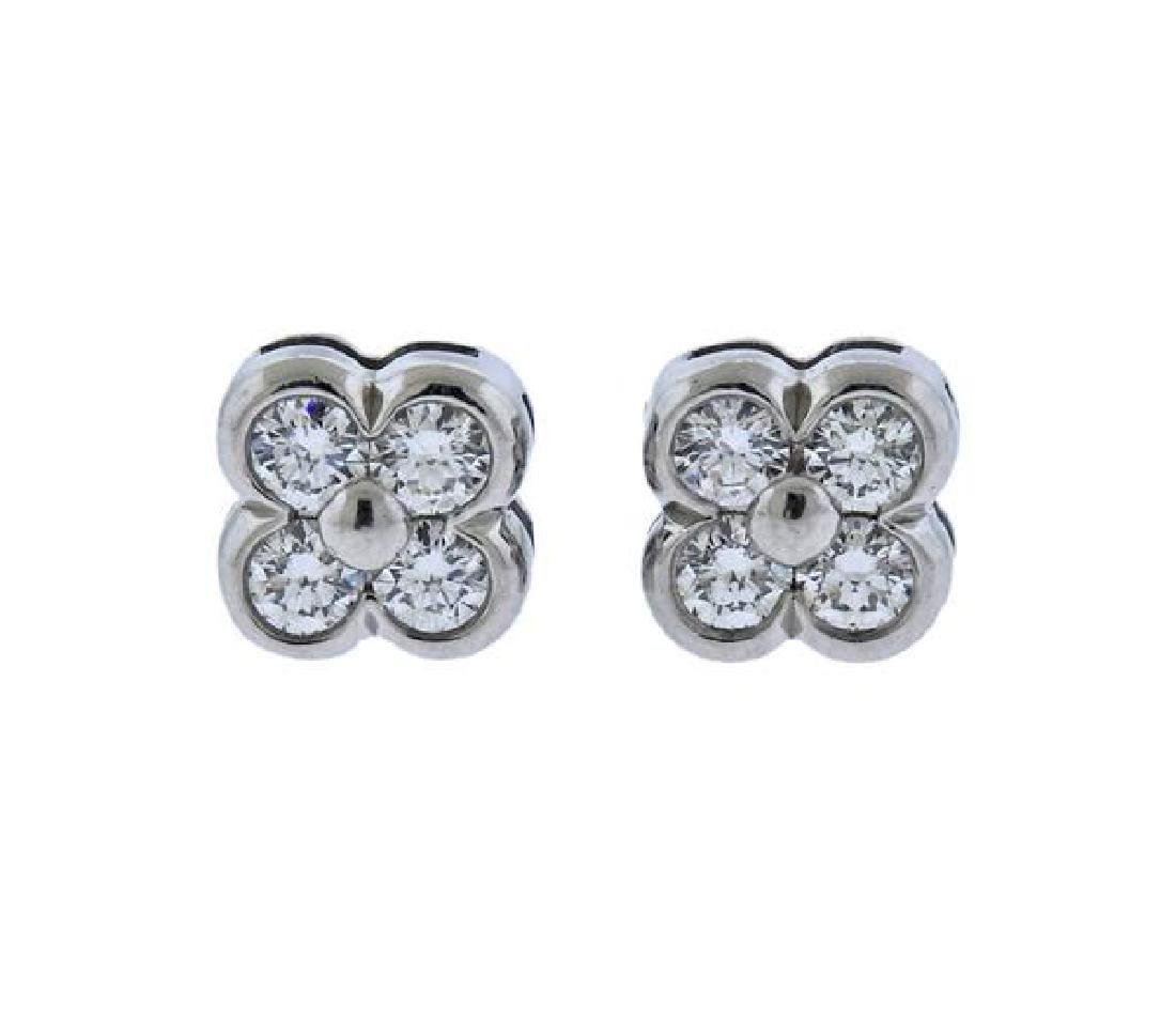 Tiffany & Co Platinum Diamond Earrings