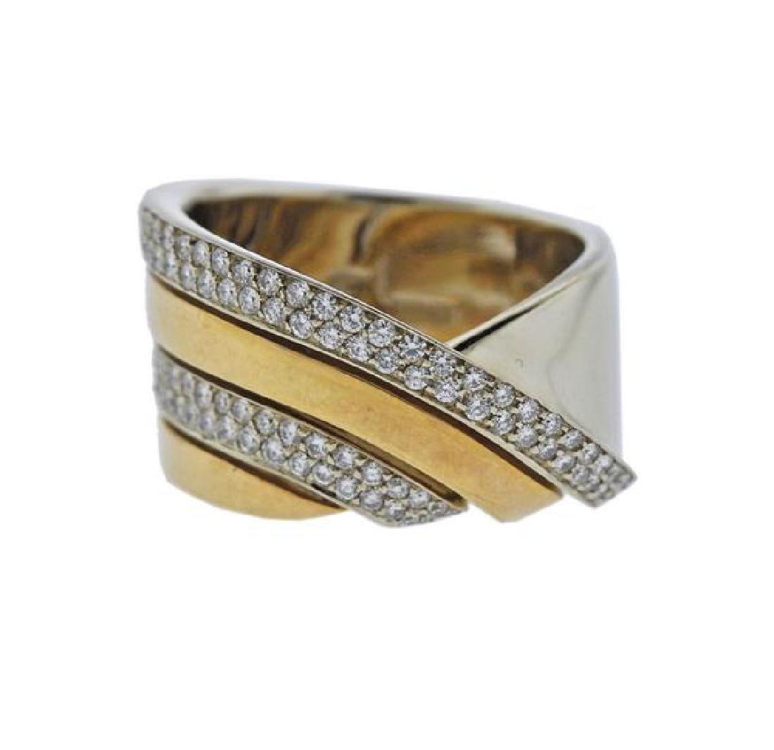 Vhernier 18K Gold Diamond Ring
