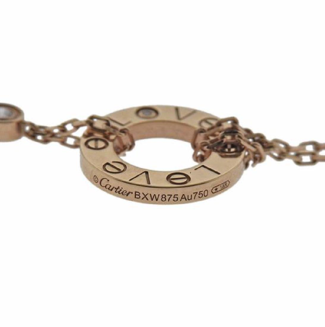 Cartier Love 18K Gold Diamond Necklace - 3