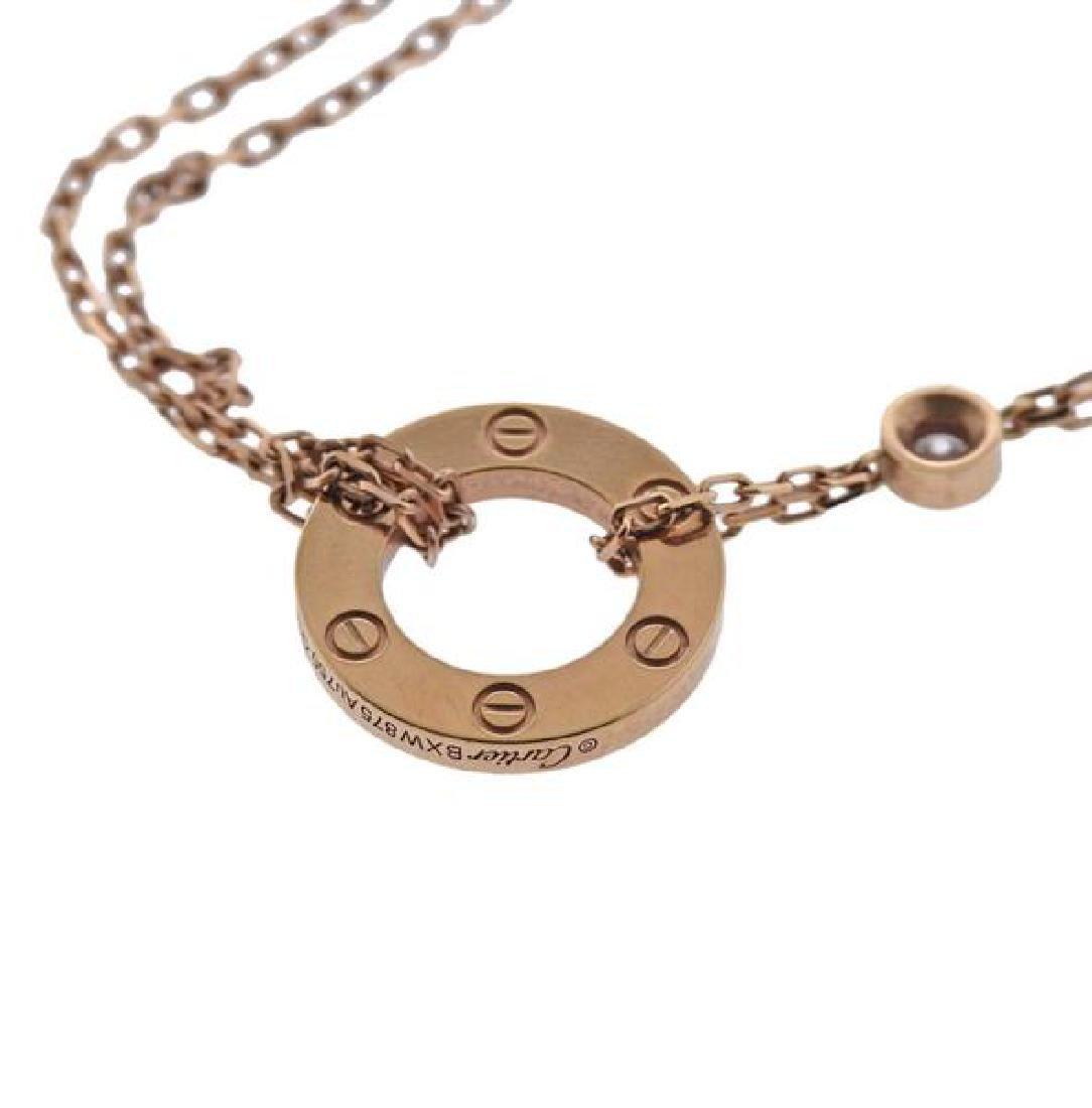 Cartier Love 18K Gold Diamond Necklace - 4
