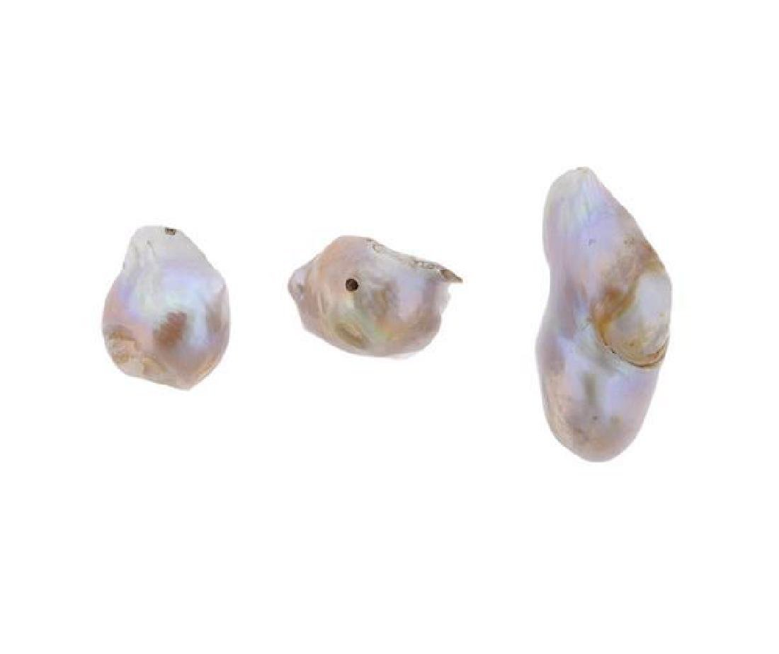 Pearl Gemstone Lot of 3