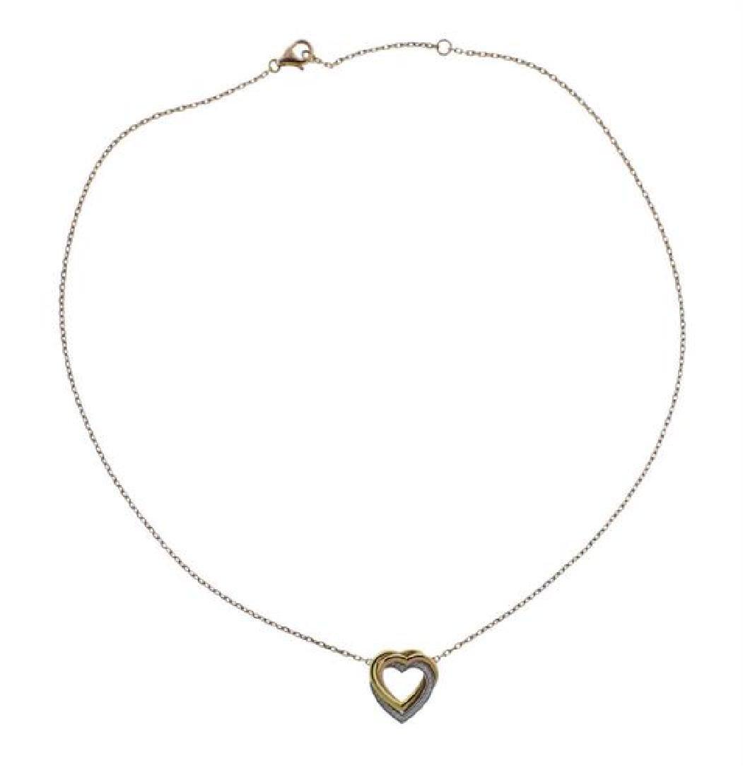 Cartier Trinity 18K Tri Color Gold Diamond Necklace
