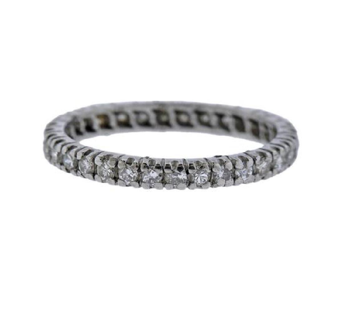 Platinum Diamond Eternity Wedding Band Ring
