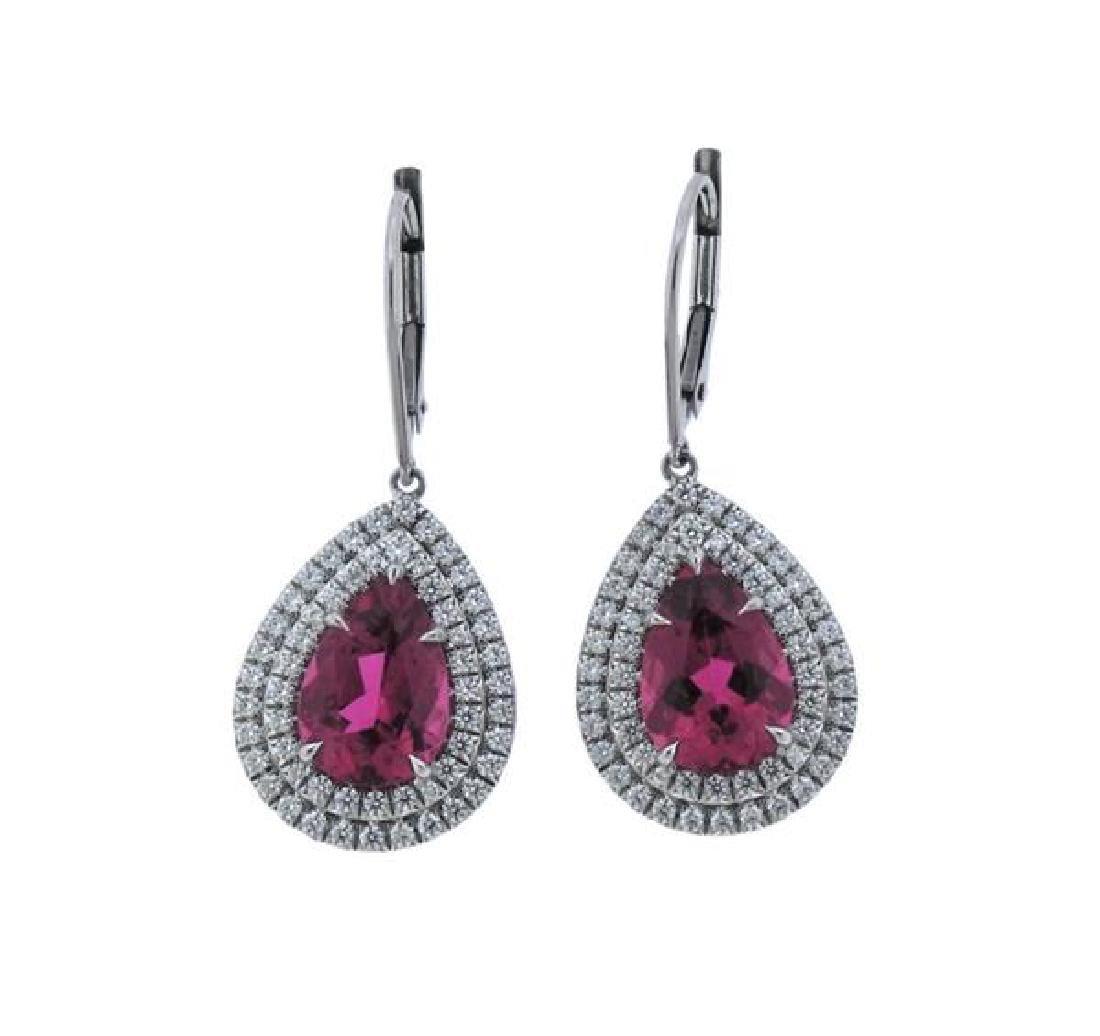 Tiffany & Co Soleste Platinum Diamond Tourmaline