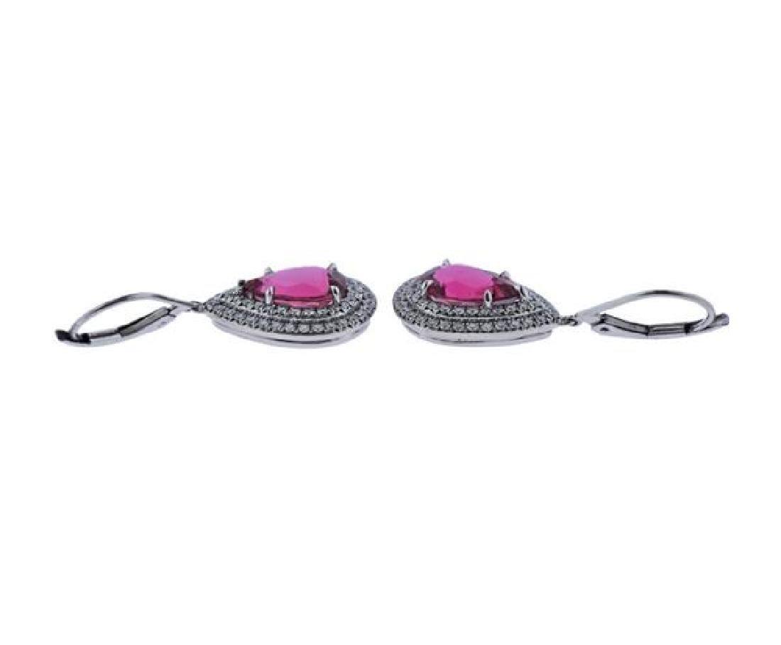 Tiffany & Co Soleste Platinum Diamond Tourmaline - 3