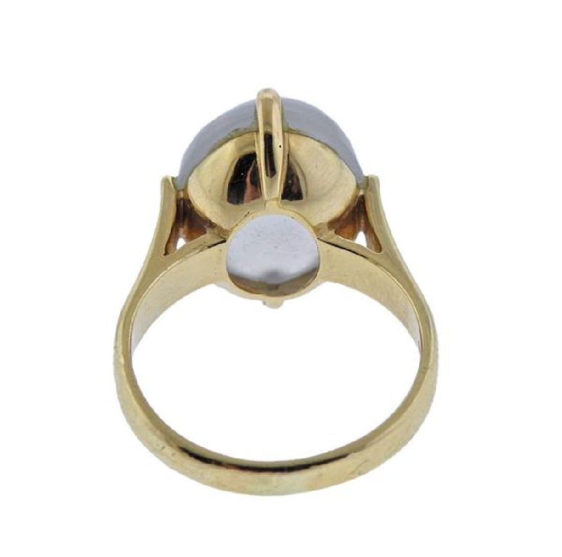 Gumps 14K Gold Ice Jadeite Ring - 3