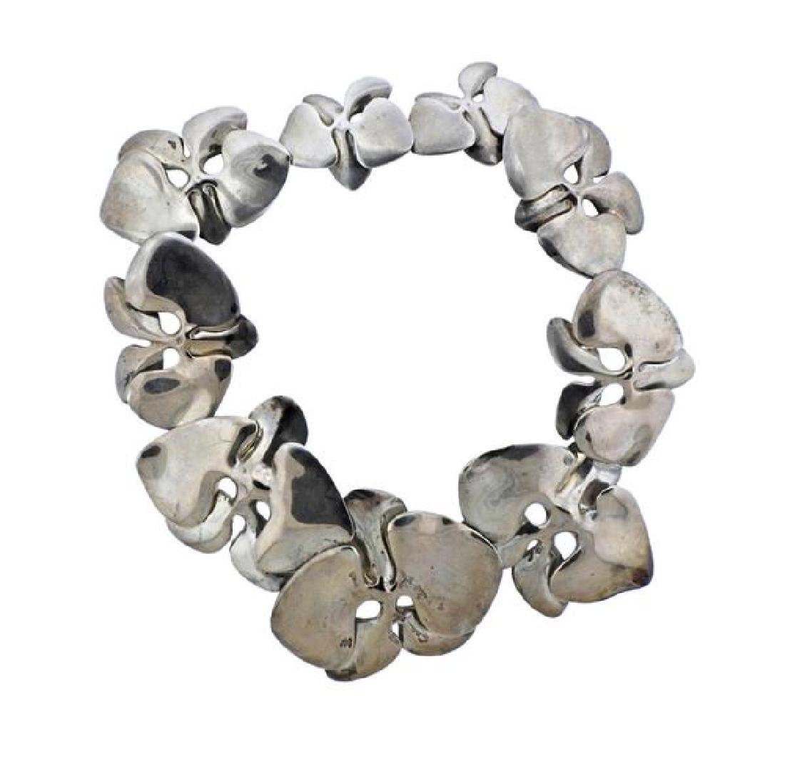 Angela Cummings Sterling Silver Orchid Necklace