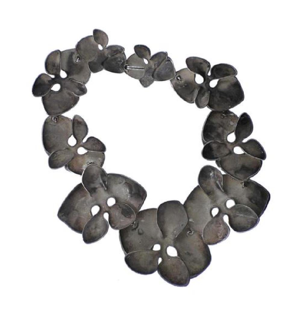 Angela Cummings Sterling Silver Orchid Necklace - 4