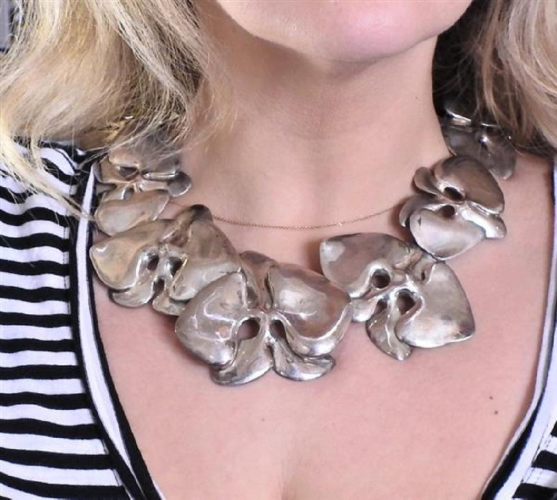 Angela Cummings Sterling Silver Orchid Necklace - 6