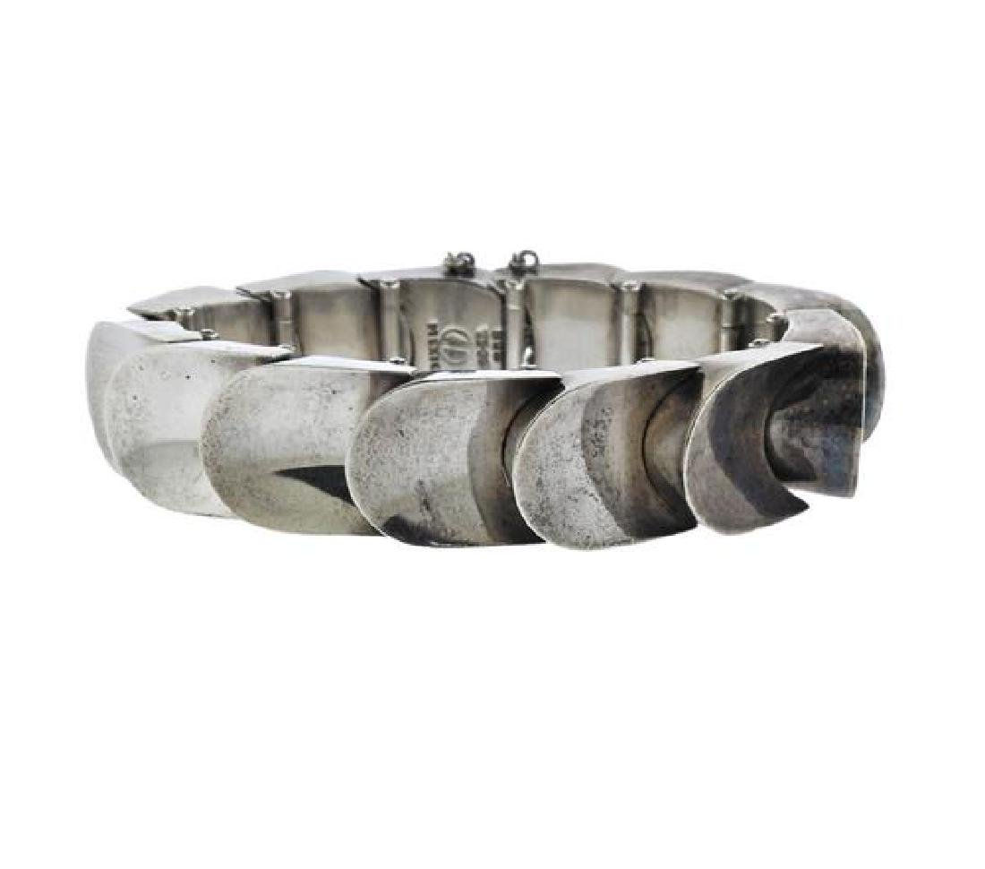Mexico Sterling Silver Scale Bracelet