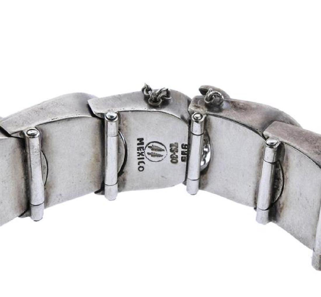 Mexico Sterling Silver Scale Bracelet - 2