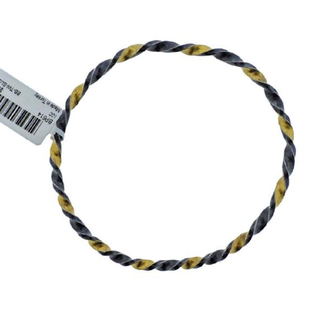 Gurhan Midnight Sterling Twisted Bracelet