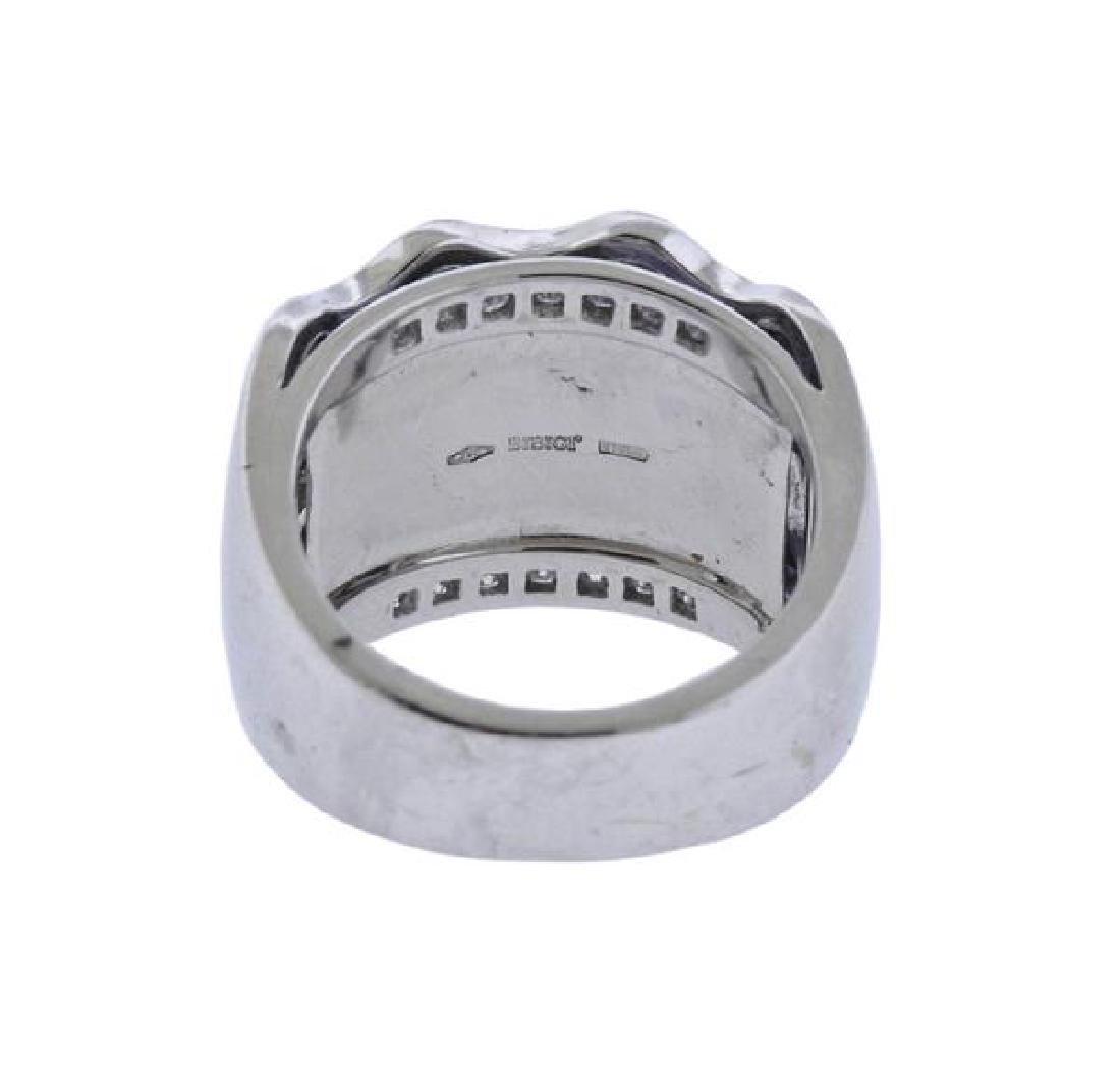 Bibigi 18K Gold Diamond Iolite Wide Band Ring - 3
