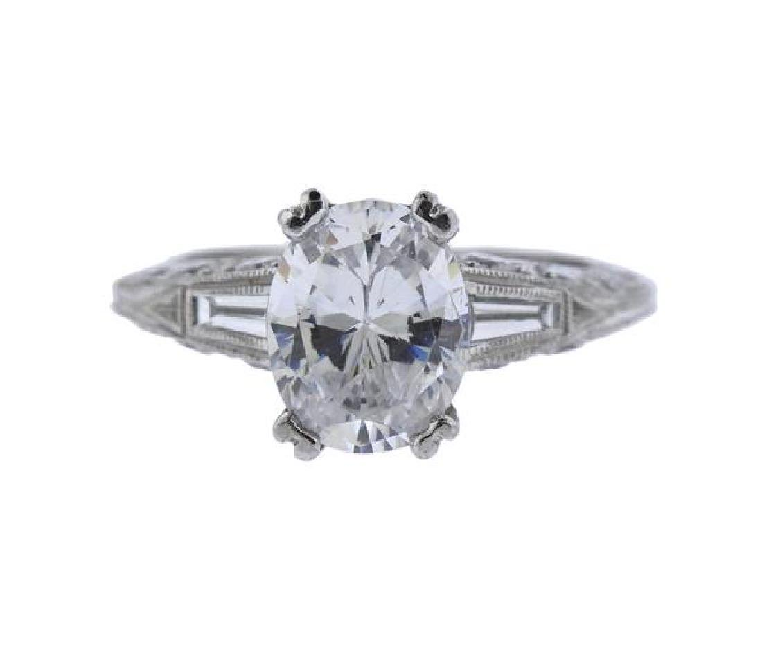 Tacori Platinum Diamond Engagement Ring Mounting