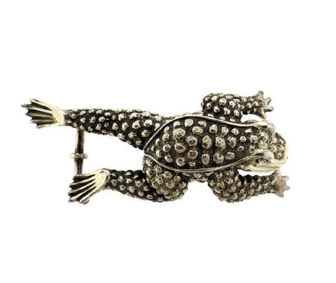 Kieselstein Cord Sterling Frog Belt Buckle