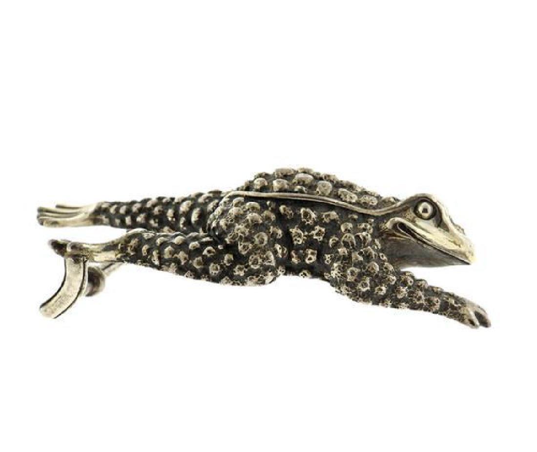 Kieselstein Cord Sterling Frog Belt Buckle - 2