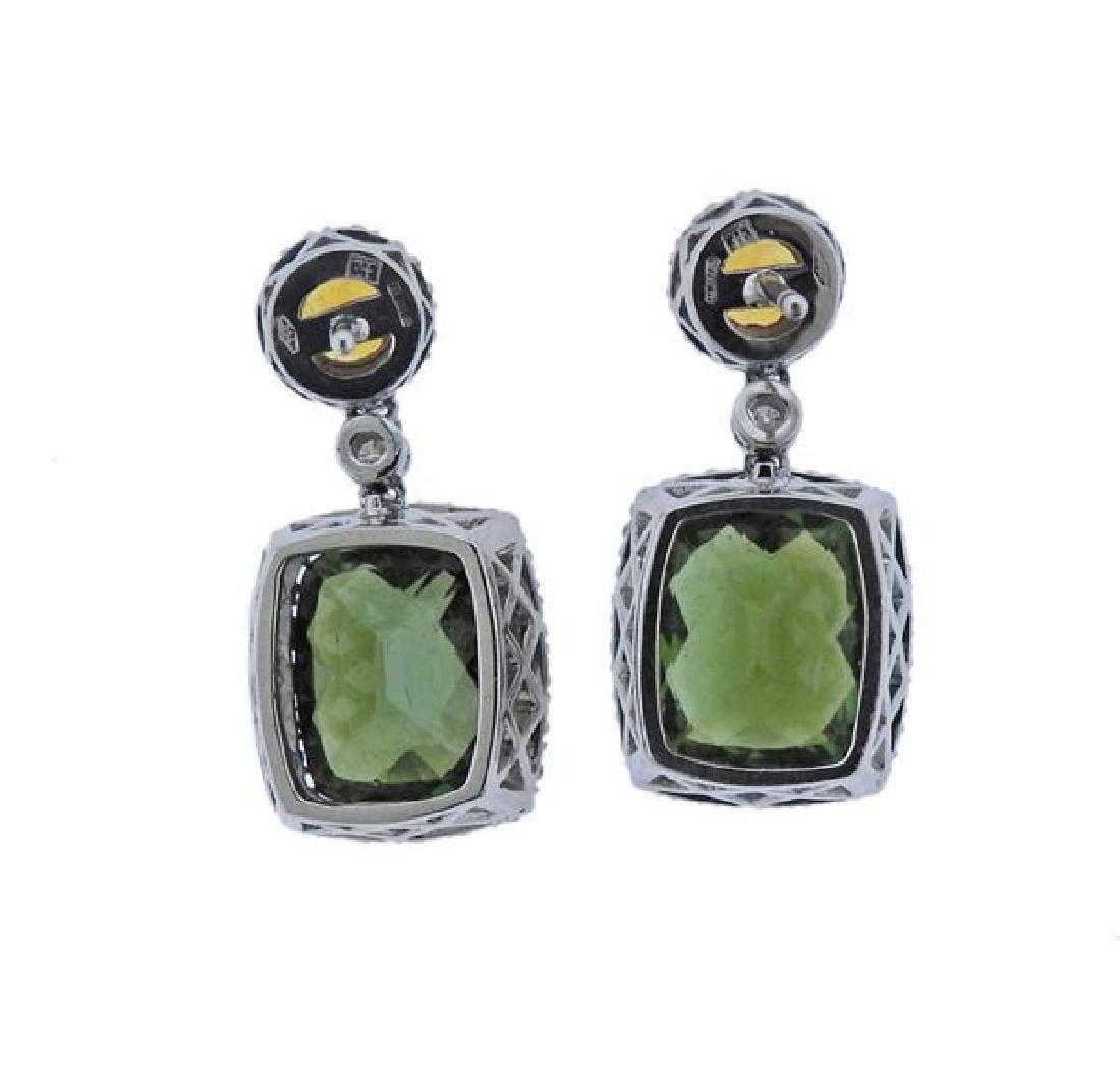 Favero 18K Gold Diamond Tourmaline Citrine Earrings - 2