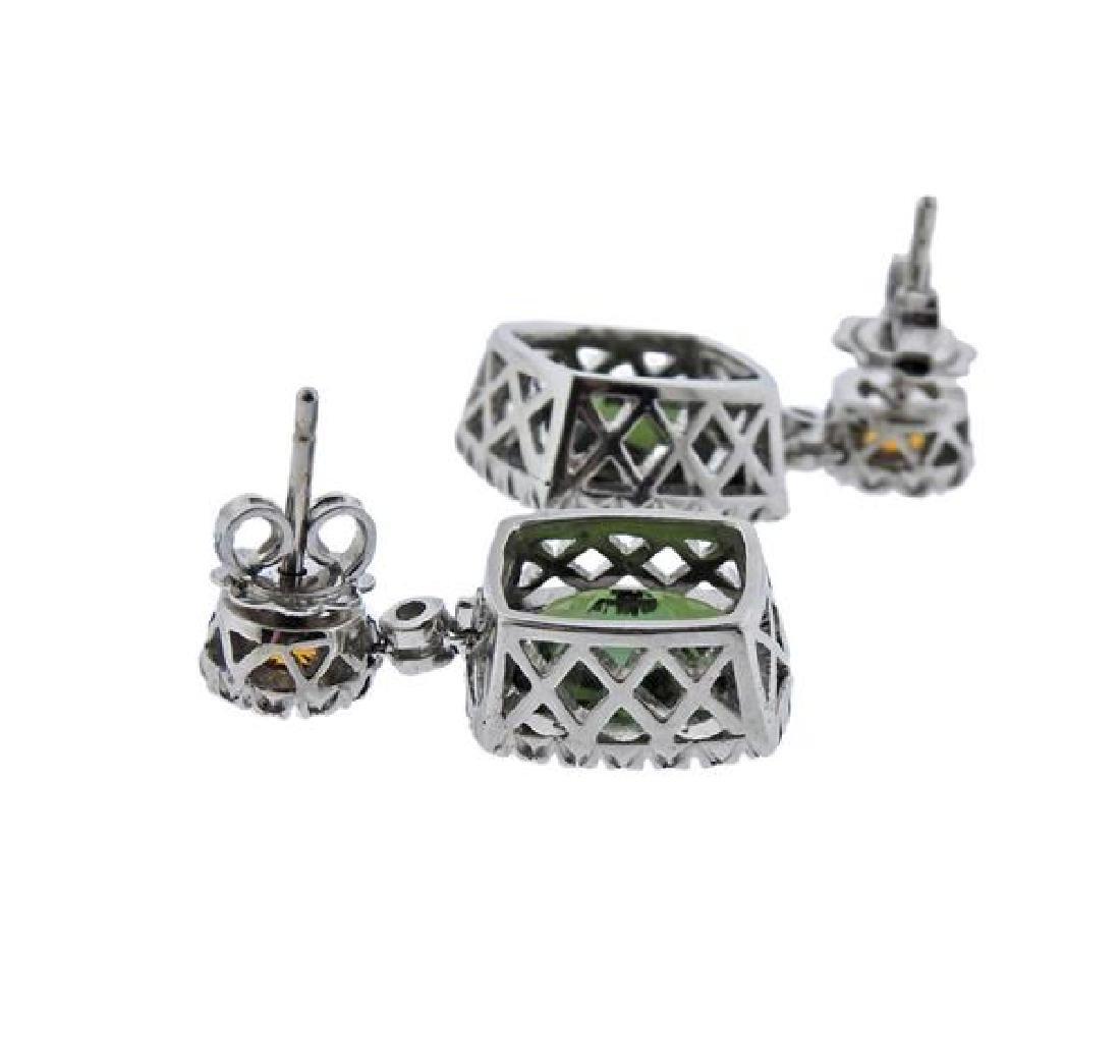 Favero 18K Gold Diamond Tourmaline Citrine Earrings - 3