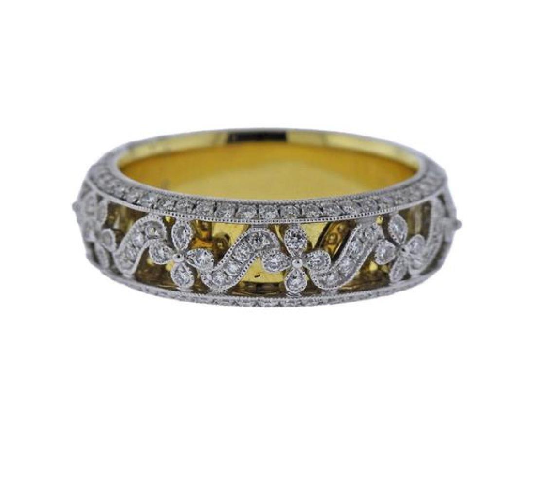Demarco 18K Gold Diamond Wedding Band Ring