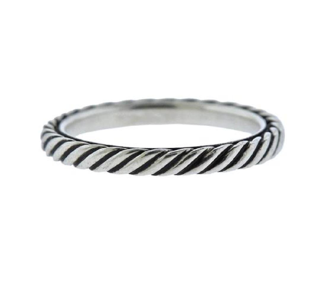 David Yurman Sterling Silver Cable Band Ring