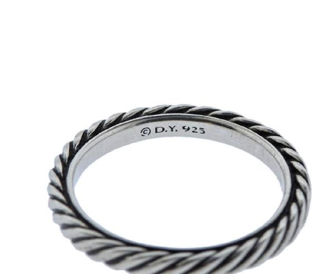 David Yurman Sterling Silver Cable Band Ring - 2
