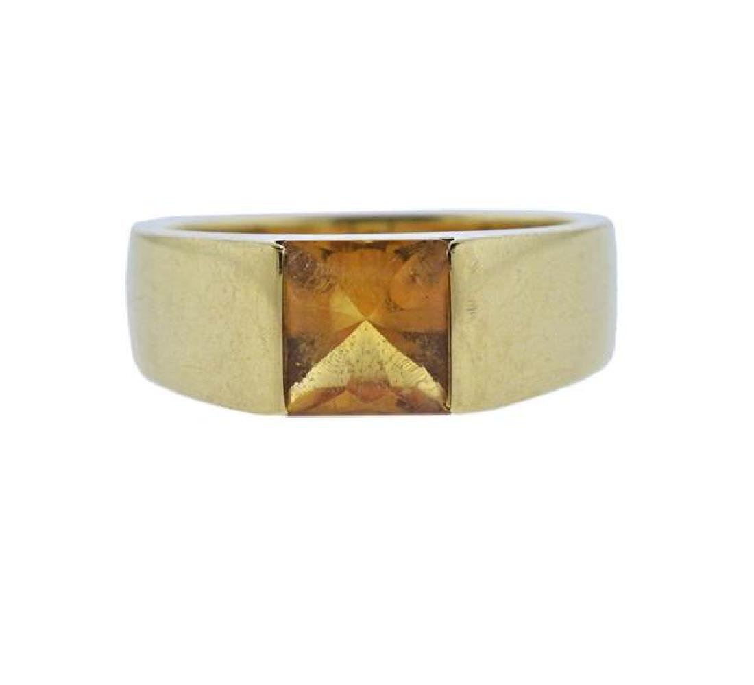 Cartier Tank 18K Gold Citrine Ring