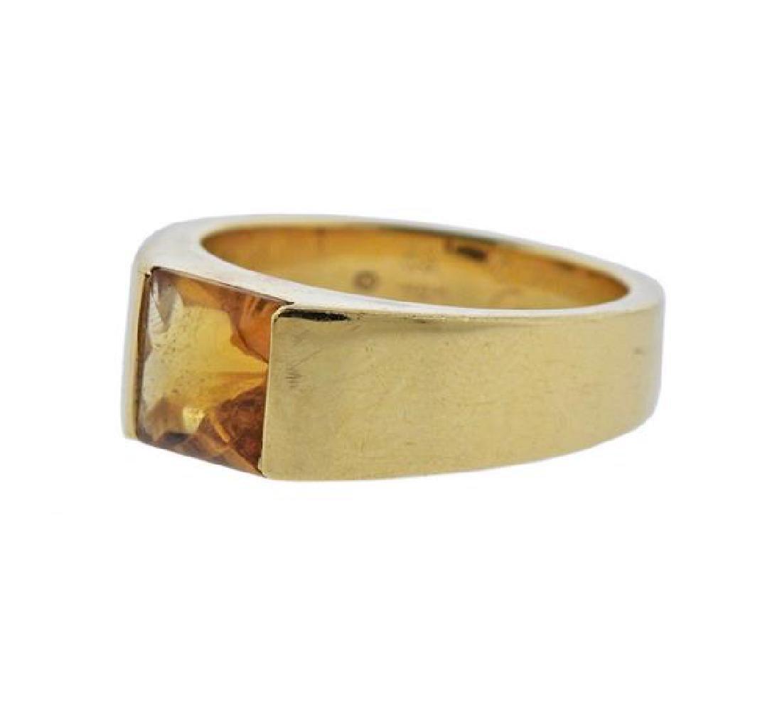 Cartier Tank 18K Gold Citrine Ring - 2