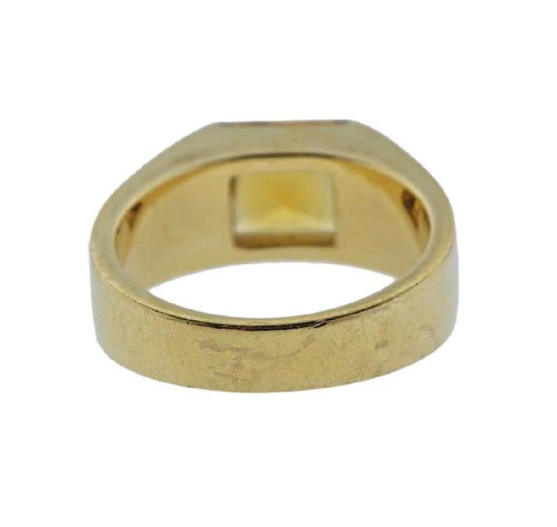 Cartier Tank 18K Gold Citrine Ring - 3