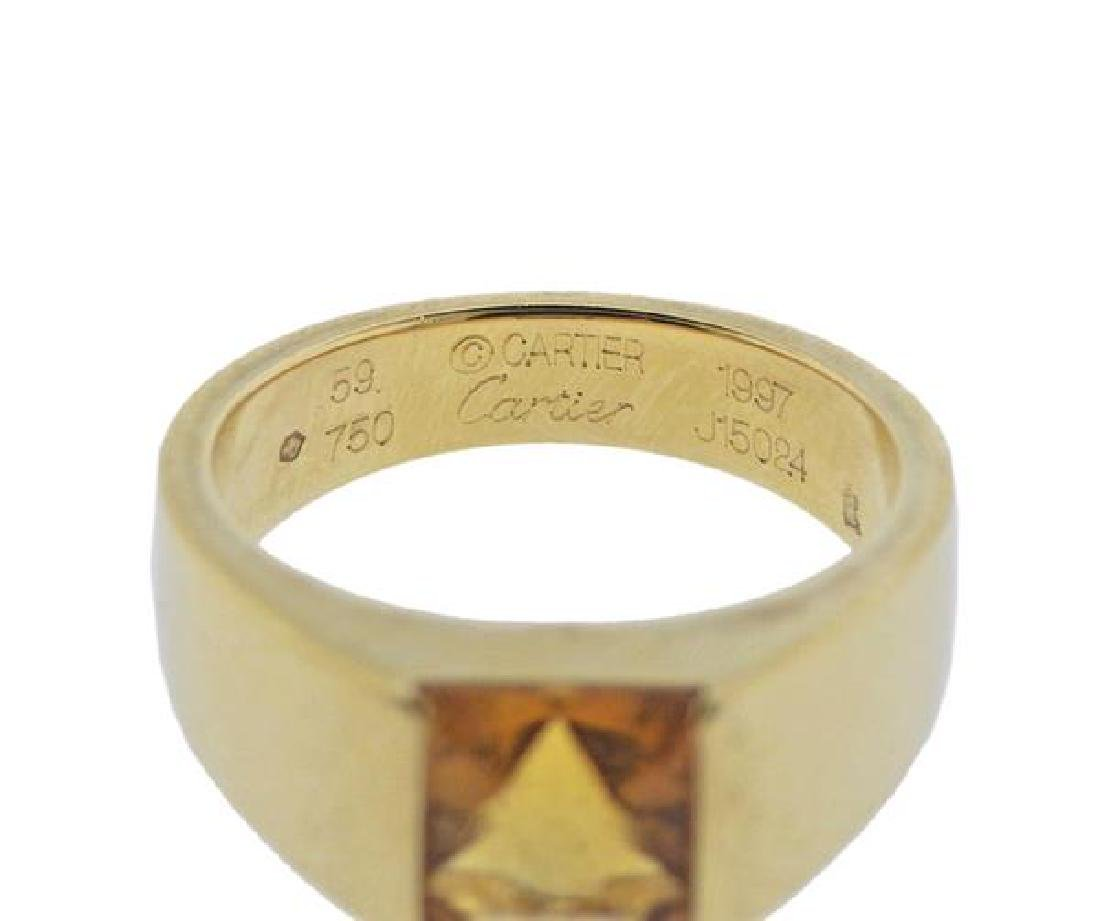 Cartier Tank 18K Gold Citrine Ring - 4