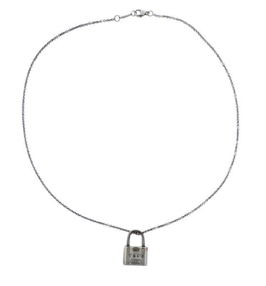 Tiffany & Co 1837 Sterling Silver Padlock Pendant