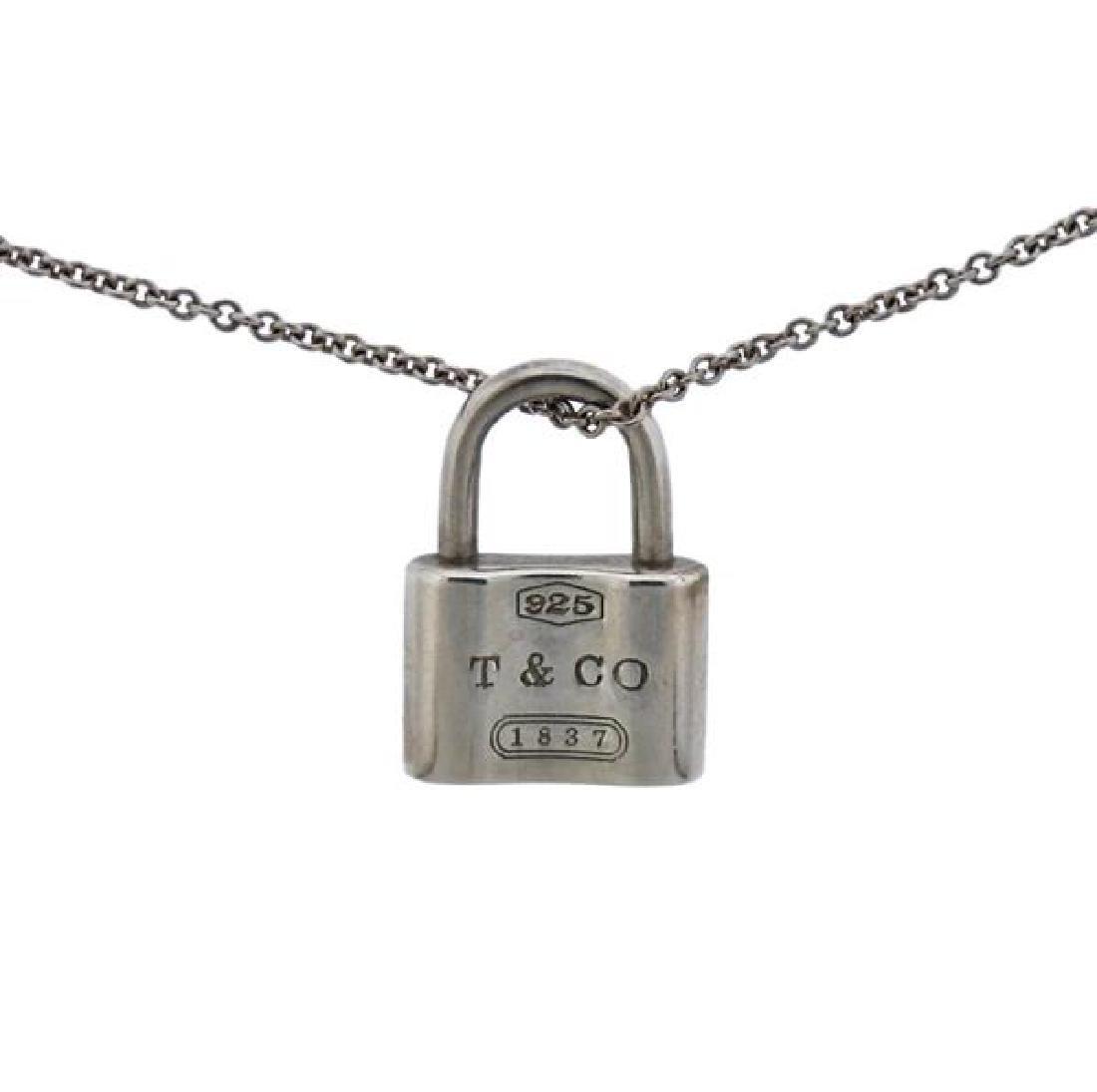 Tiffany & Co 1837 Sterling Silver Padlock Pendant - 2