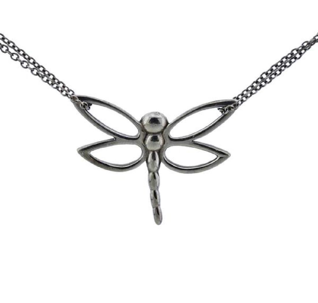 Tiffany & Co Sterling Dragonfly Double Chain - 2