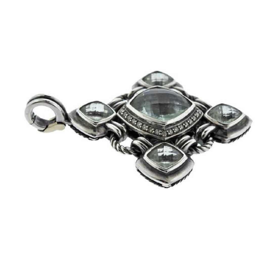 David Yurman Renaissance Silver Diamond Gemstone - 2