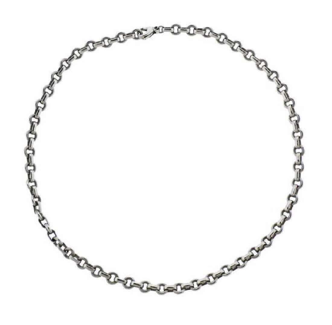 Tiffany & Co Sterling Silver Donut  Link Chain