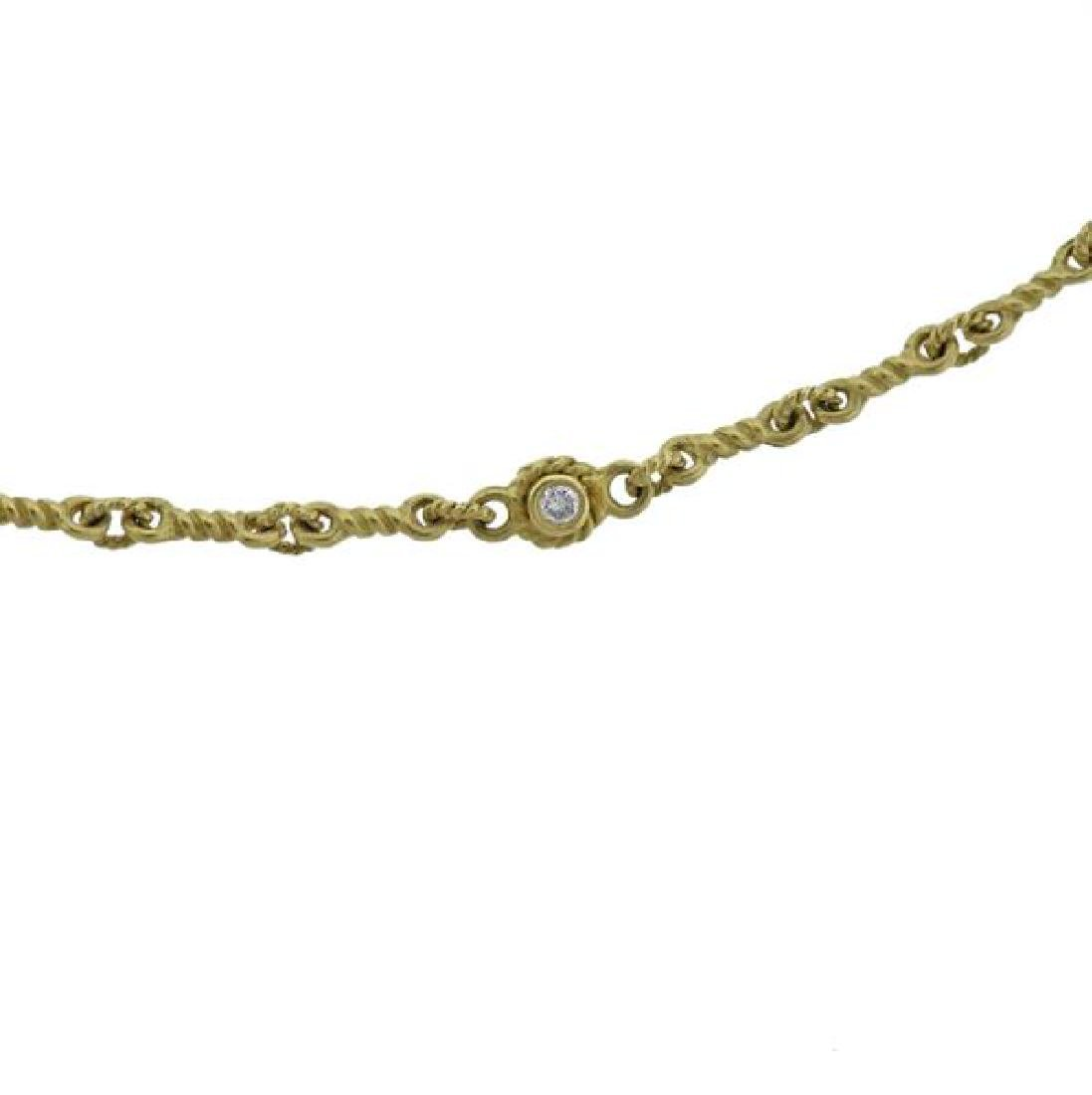 18K Gold Diamond Necklace - 2