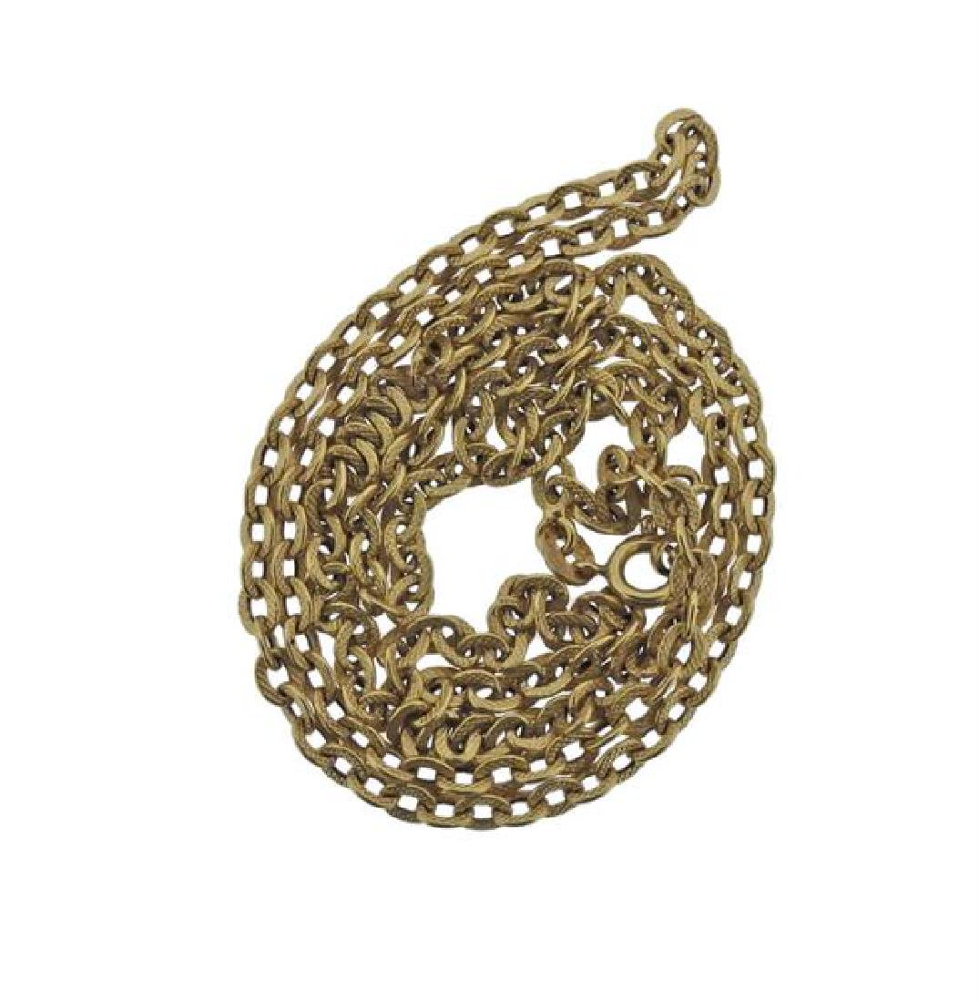 18K Gold Link Chain Necklace - 3