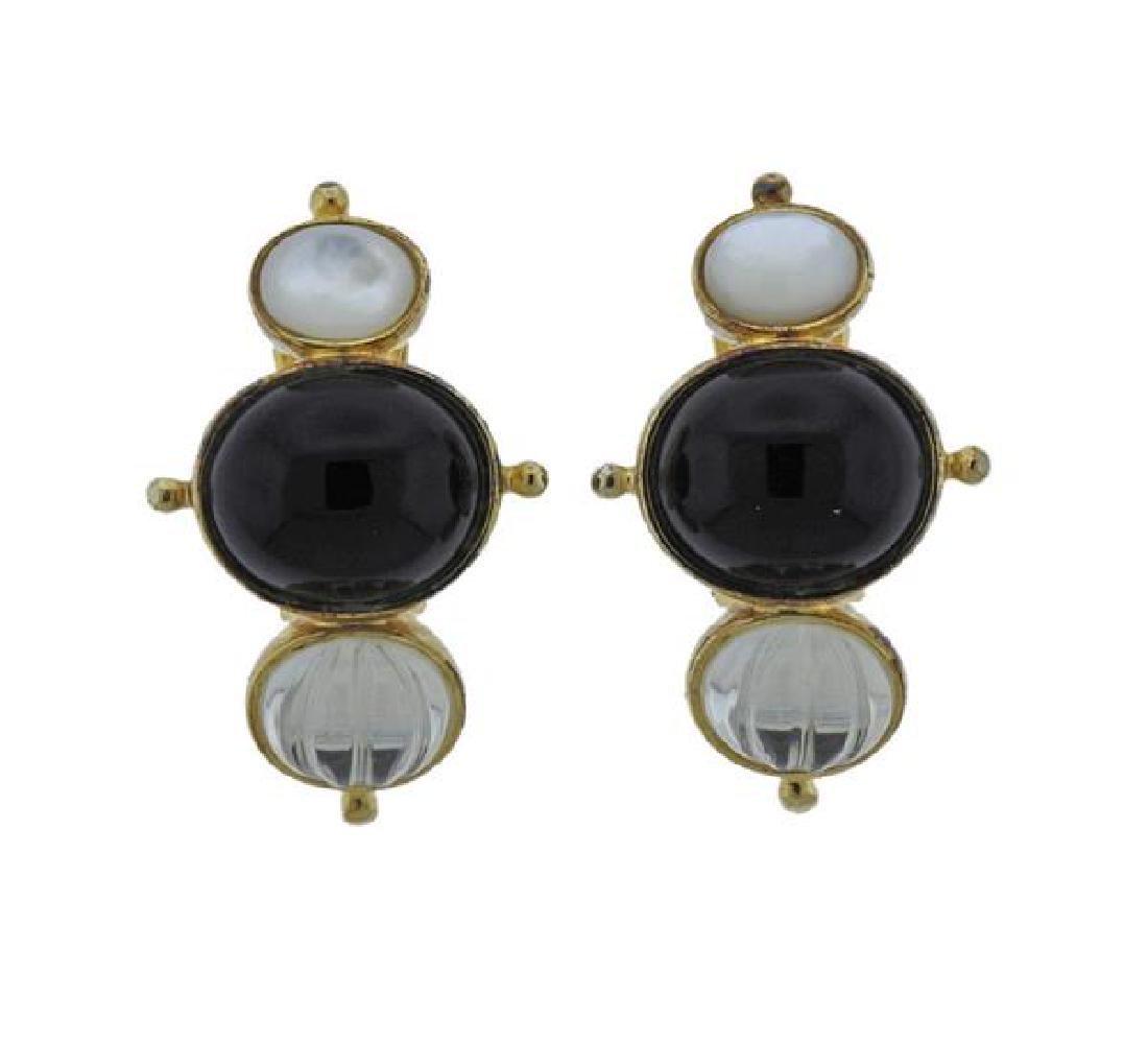 Kylo Sterling Multi Gemstone Earrings