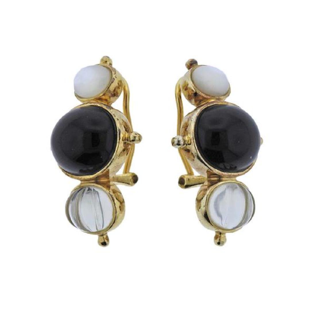 Kylo Sterling Multi Gemstone Earrings - 2