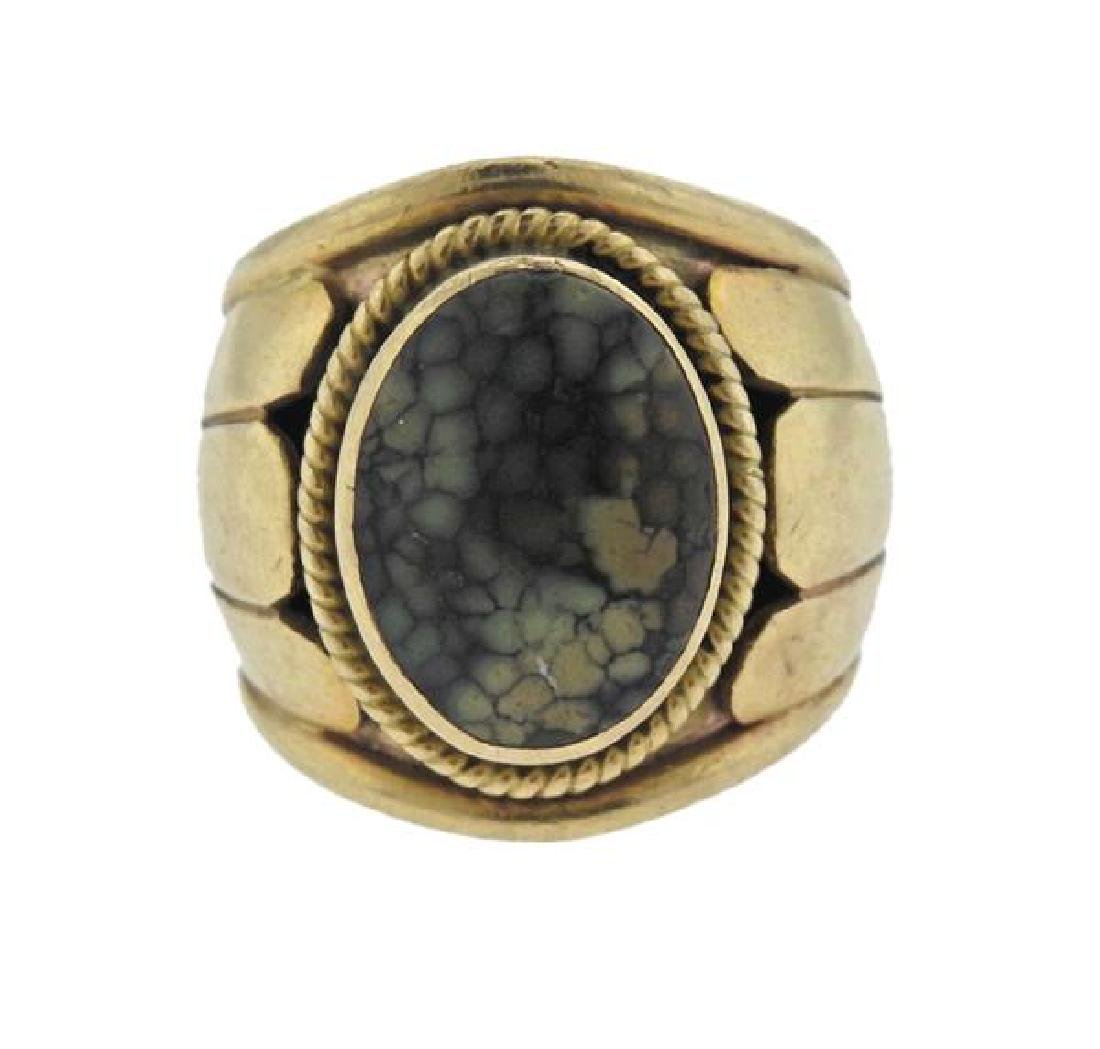 Cortez 14K Gold Moss Agate Ring