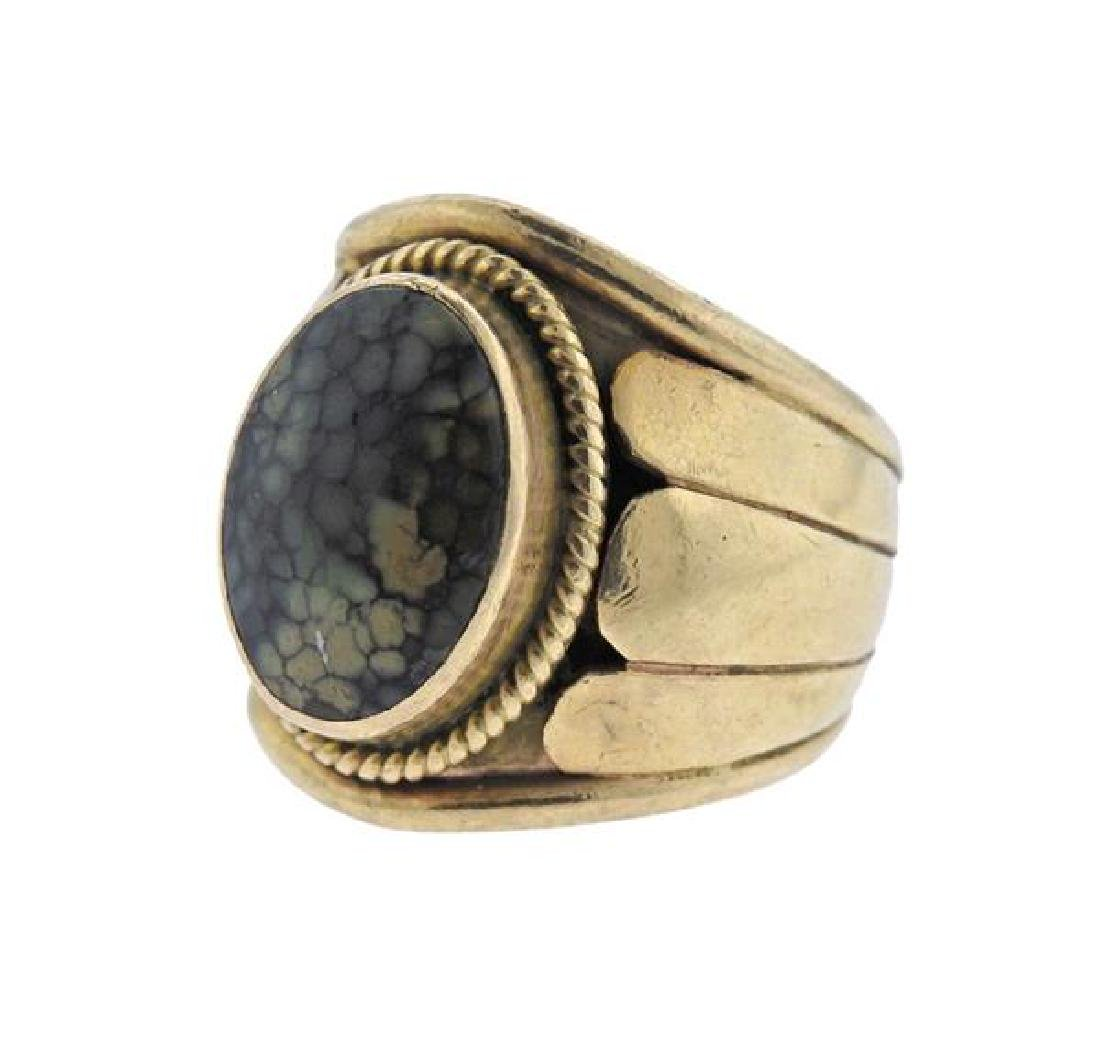 Cortez 14K Gold Moss Agate Ring - 2