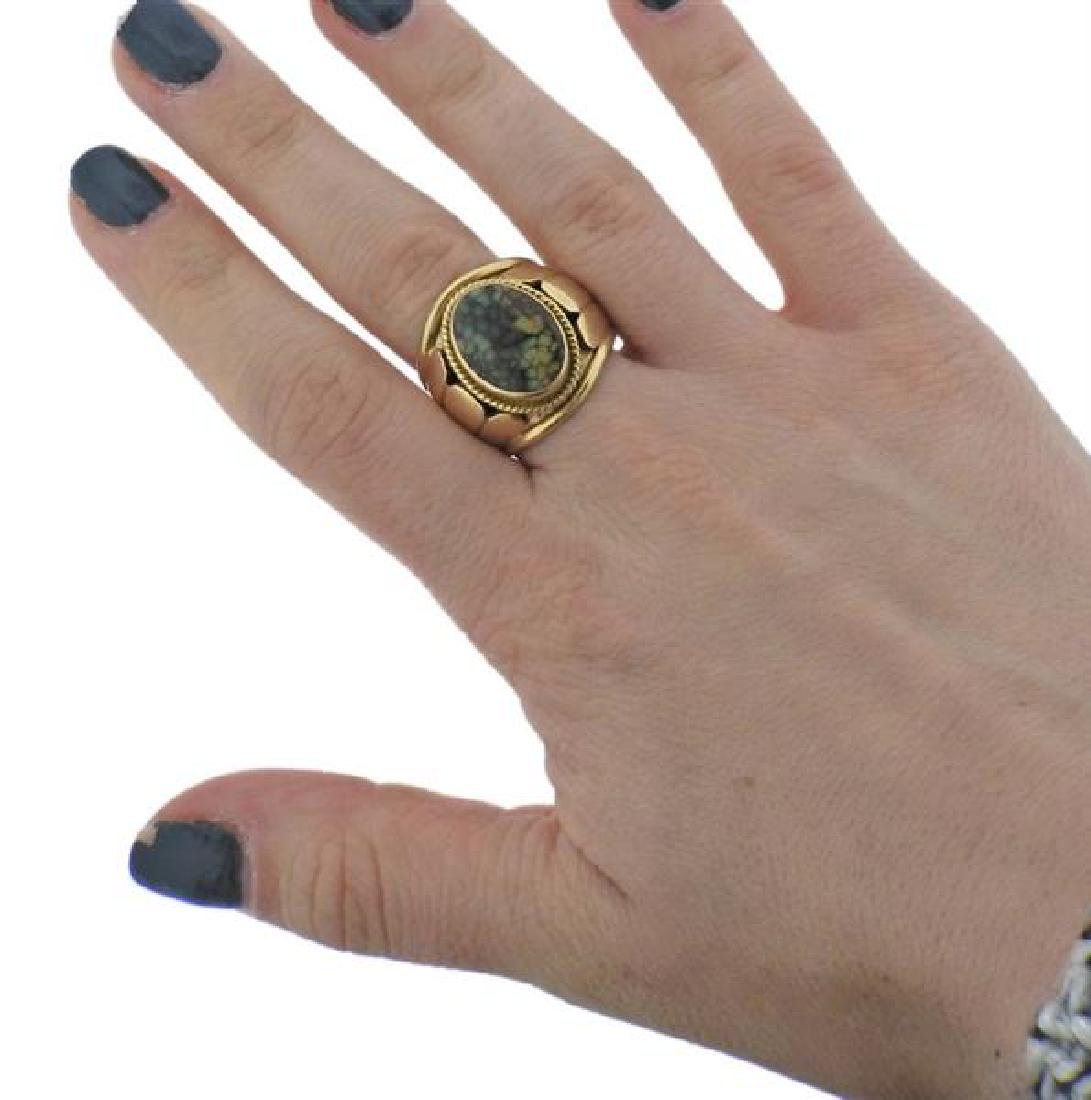 Cortez 14K Gold Moss Agate Ring - 4