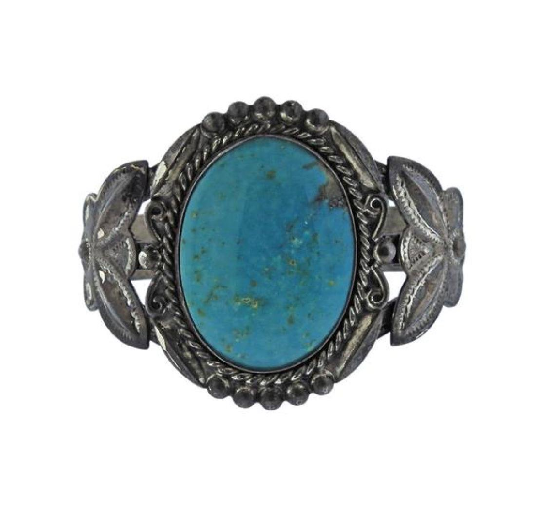 Native American Bell Trading Co Sterling Turquoise