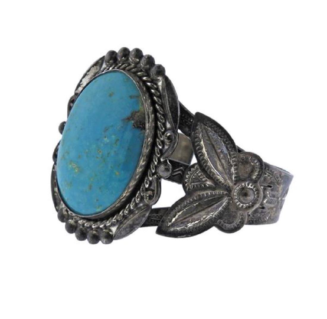 Native American Bell Trading Co Sterling Turquoise - 2