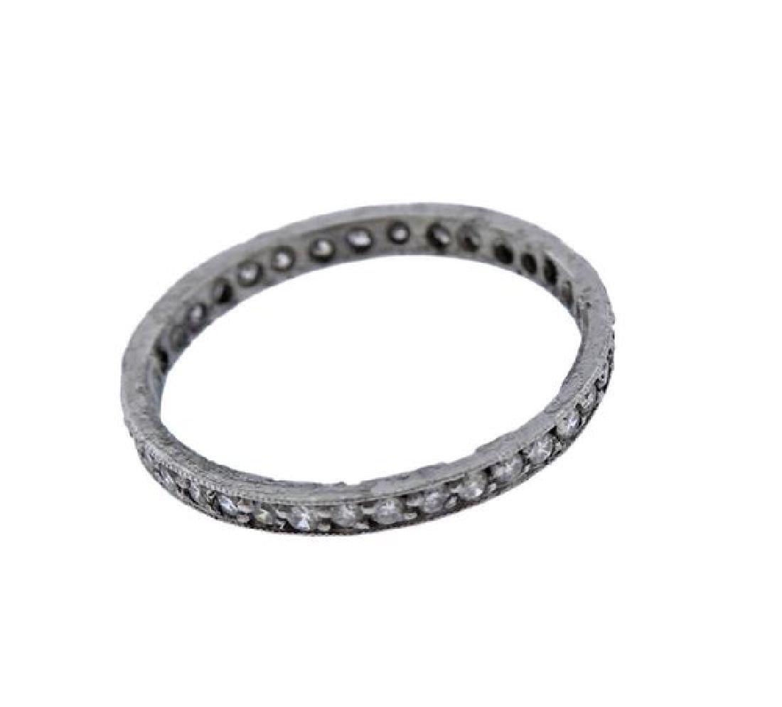 Platinum Diamond Eternity Band Ring - 2