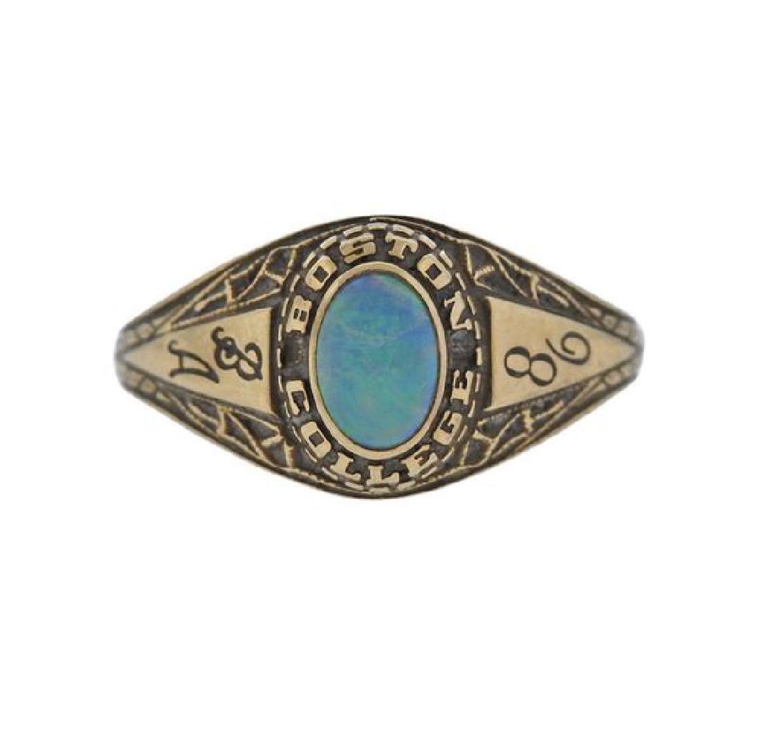 14K Gold Opal Ring
