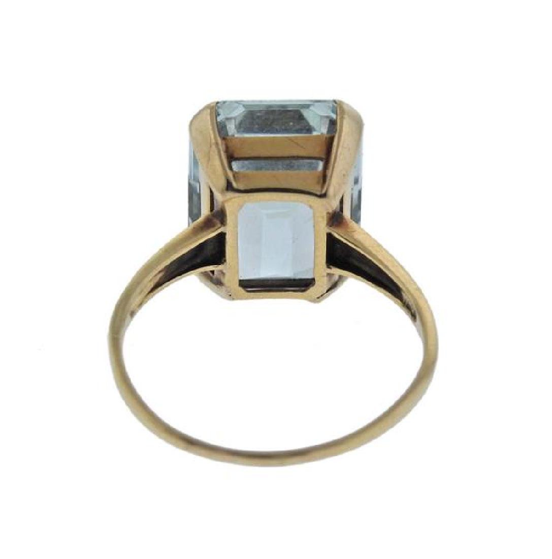14K Gold Aquamarine Ring - 3