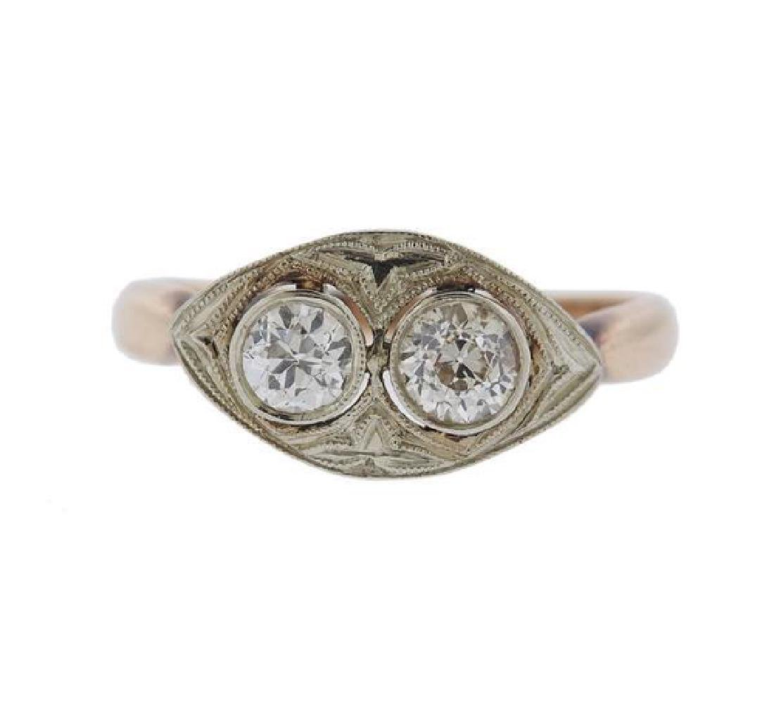 Art Deco 14K Gold Diamond Ring