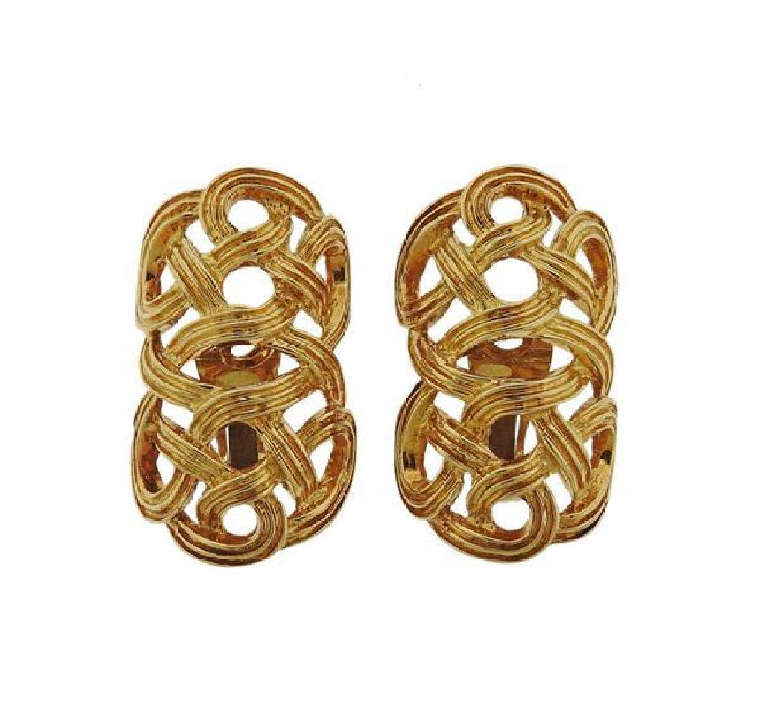 1970s 18k Gold Earrings